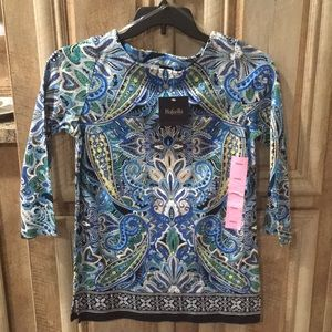 New With Tags Women's Size Small Blouse (Rafaella)